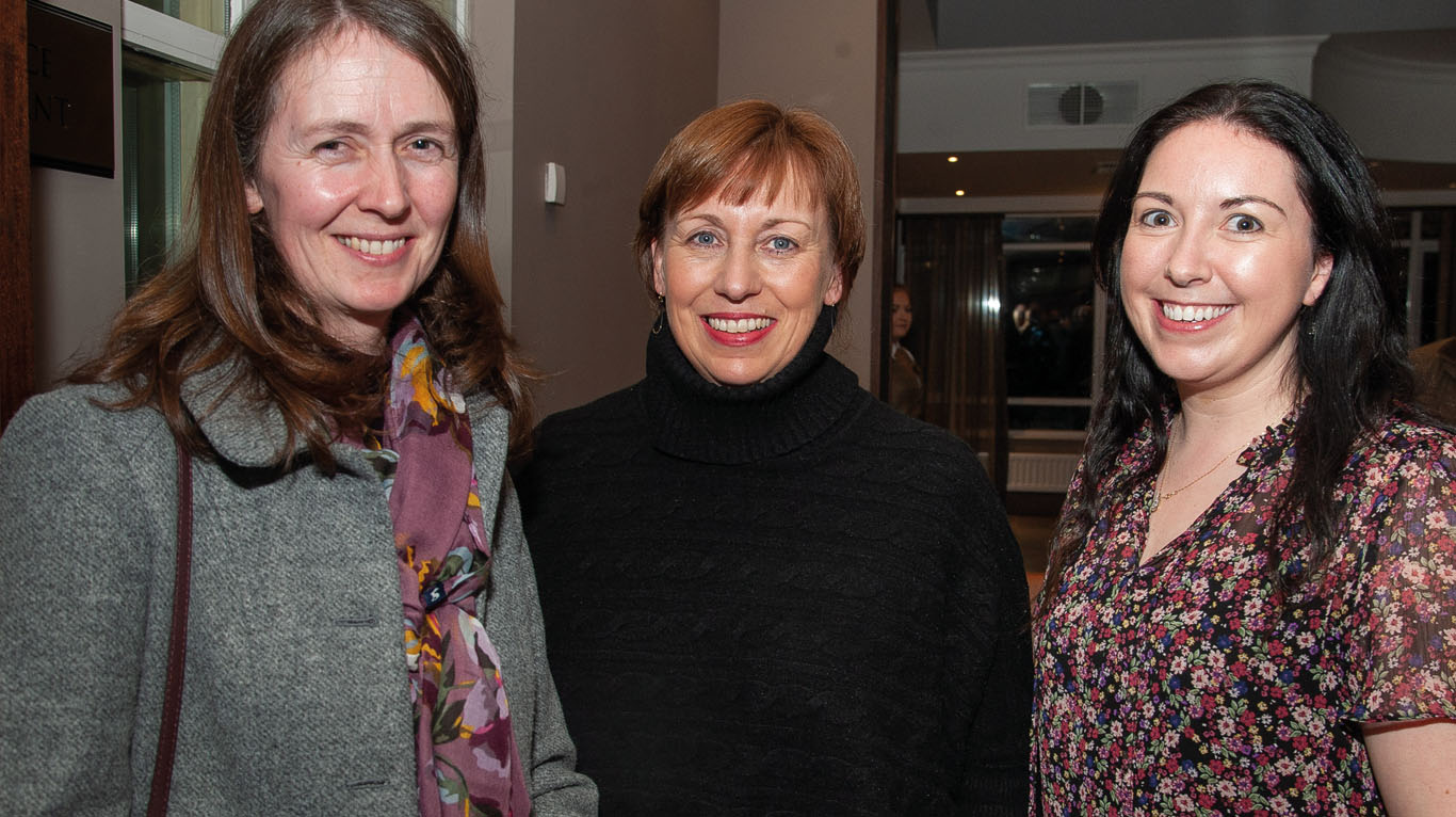 Sharon Verner, AHWNI is pictured here with Helen Johnston of DAERA and NIIVA public relations officer, Fiona McFarland.