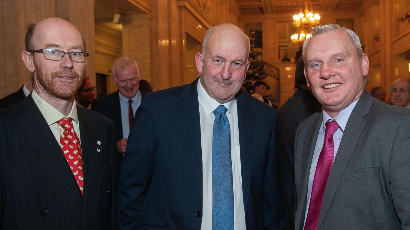 Pictured are Paul Crawford, former president, AVSPNI; Oisian Murnian, National Beef Association and John McCallister MLA.
