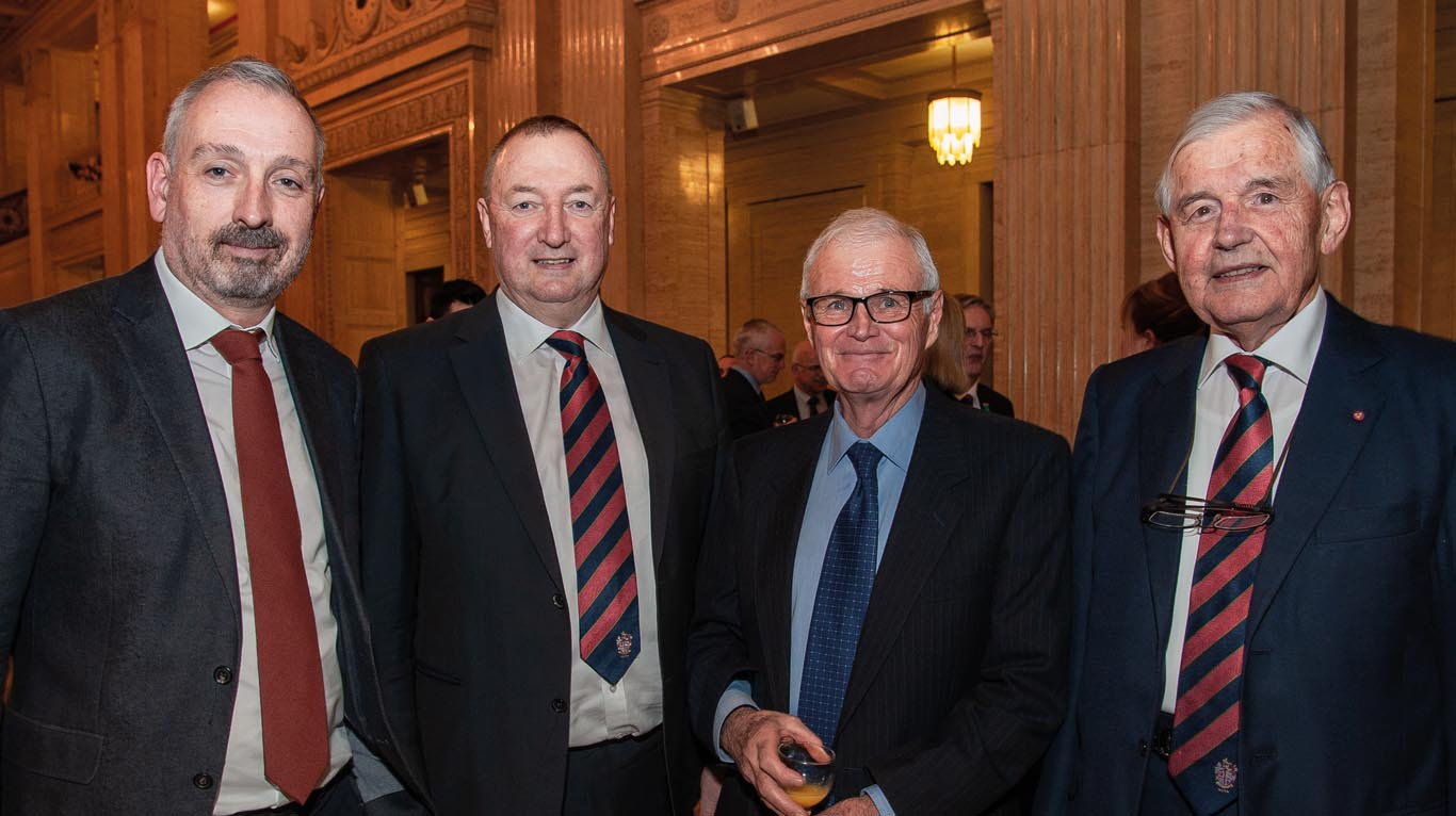 Shown here are David Calpin, BVA chief executive; Bert Houston, former CVO in NI; Geoff Cannon, Equine Council for Northern Ireland and Ron Martin, retired CVO NI.