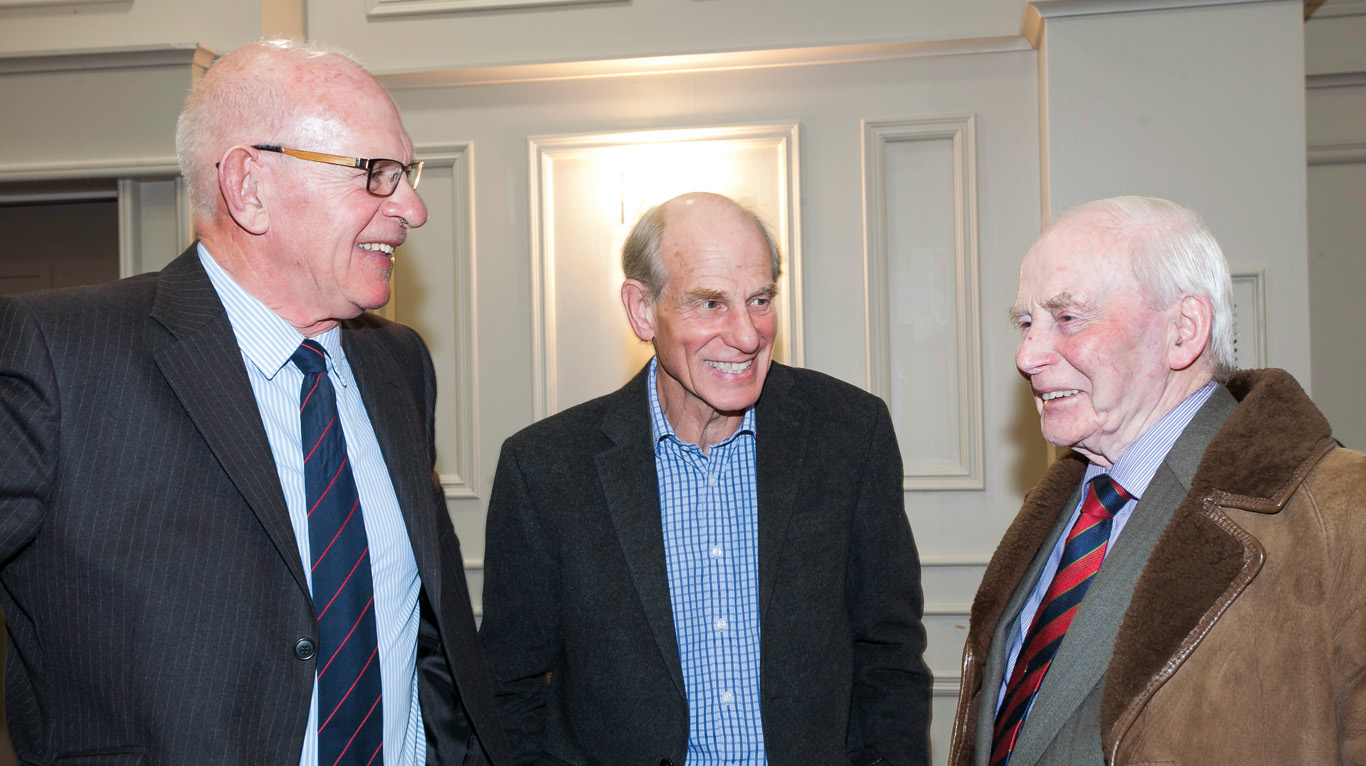 This picture shows John Doherty with Chris Heffron of Cromlyn House and retired vet, Raymond Clarke.