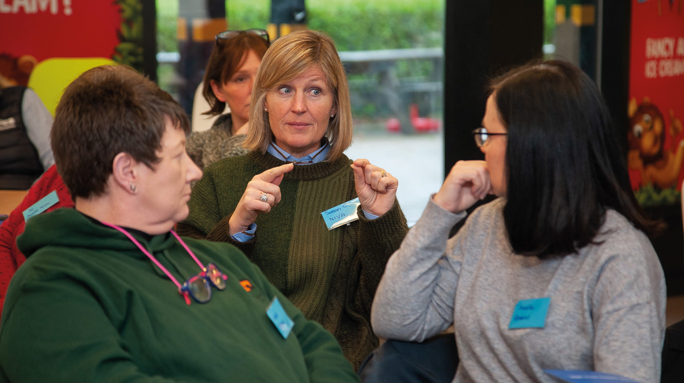 NIVA president and event speaker, Susan Cunningham makes a point during the discussions at the zoo.